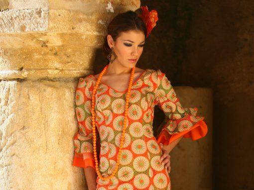 Vestido Flamenca Naranja